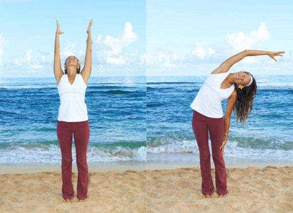 Bài tập nghiêng người giúp căng giãn cơ hiệu quả