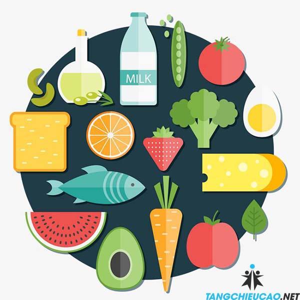 ăn đúng thực phẩm để tăng chiều cao