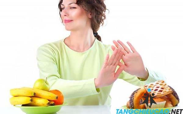 ăn uống giảm cân tăng chiều cao
