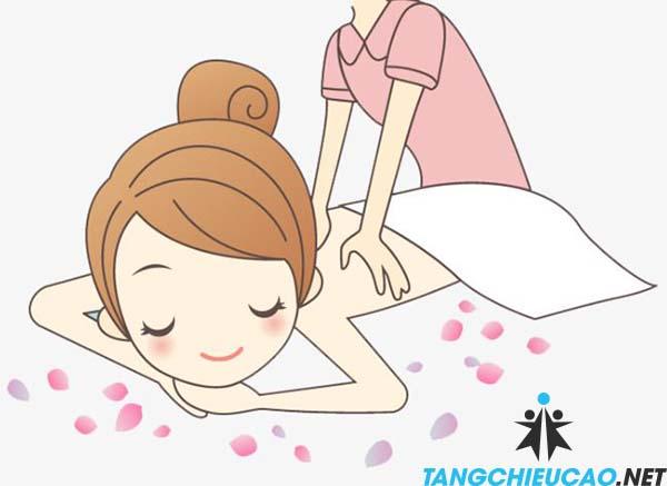 massage tăng chiều cao