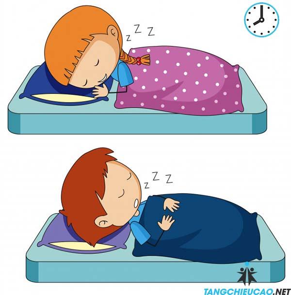 ngủ đủ giấc giúp tăng chiều cao