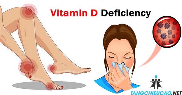 dấu hiệu thiếu vitamin d
