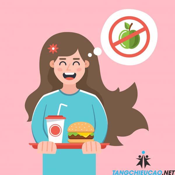 ăn nhiều thức ăn nhanh