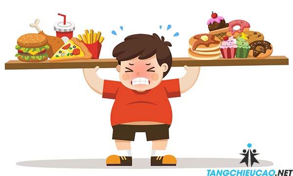 thực phẩm cản trở phát triển ở trẻ