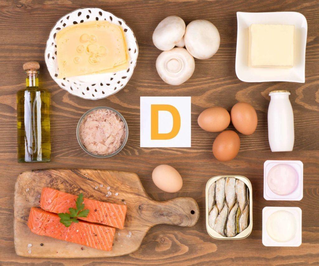 nhóm thực phẩm giàu vitamin d