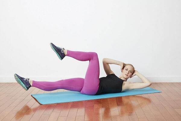 Bài tập yoga tăng chiều cao với tư thế Bicycle