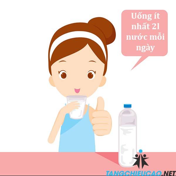 uống nhiều nước hơn để tăng chiều cao